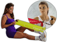 Thera Band Resistive Exercise Systems Latex Bands